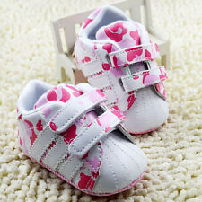 Baby Girl Pink Camo Crib shoes Soft Sole Sneakers size 0-6 6-12 12-18 Months