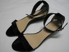 J.Crew NEW Lillian Patent Low Wedge Sandals in Black #19556 $188