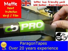 2m x 100mm *MATTE SATIN* Bike Frame Protection Tape Helicopter  Frozen Car Paint