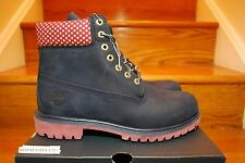 "VILLA X TIMBERLAND 6"" INCH BOOT OLD GLORY NAVY BLUE RED MEN & GS SZ: 4Y-13"