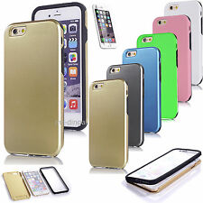 For Apple iPhone 6 6plus 360° Case Ultra Thin Slim Hard Cover+ Build in Film