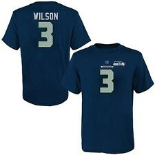 Seattle Seahawks Wilson #3 Her Catch Majestic Navy Blue Shirt Plus Sizes