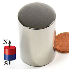N52 CMS Magnetics® Super Strong Neodymium  Cylinder Magnets 1x1 1/2""