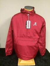 Alabama Crimson Tide Colosseum Adult Half Zip Pullover Wind Jacket with Hood