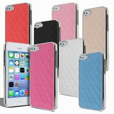 Luxury New 6 Colors Deluxe Leather Chrome Case Cover for iPhone 5 5S