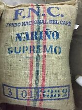 Colombian Narino Supremo unroasted green coffee beans washed fresh crop 2017