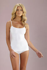NEW Nearly Nude Womens Control Tops Perfectly Smoothing Cotton  Camisole White