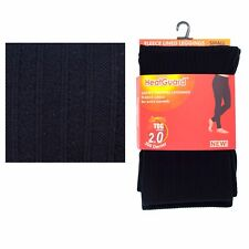 Ladies Girls Thick Winter Plain Black Warm Thermal Tights 140 Denier Tog 0.5