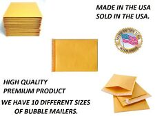 HIGH QUALITY, KRAFT BUBBLE MAILERS. MANY SIZES TO CHOOSE. USA SELLER. QTY LOTS.