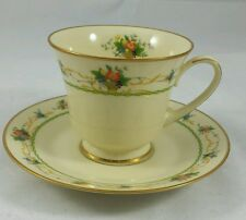 Noritake Normandy Footed Cup and Saucer Set, 3, Discontinued Pattern