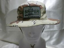 Military Sniper Boonie Desert Camo Jungle Hat Chocolate Chip Camo Made In USA