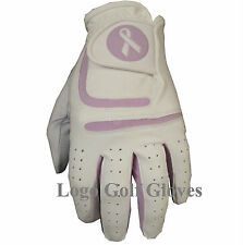 Cabretta Leather Golf Glove 4 LADIES Small Medium Large Pink Blue Black Lilac.