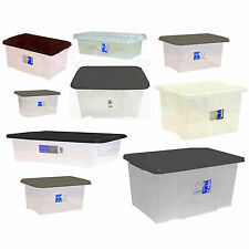 Large Midium Small Size Plastic Trendy Storage Box Boxes Set Container + Lid