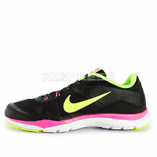 WMNS Nike Flex Trainer 5 [724858-006] Training Black/Volt-Pink-Dark Grey