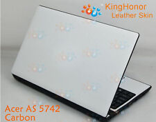 KH Special Laptop Carbon Leather Cover Skin Protecotor For Acer Aspire 5742 5552