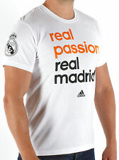 SALE ADIDAS REAL MADRID PASSION OFFICIAL LICENSED MENS T-SHIRT TEE COTTON XS S