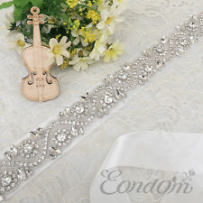 2015 Hot Sale Women's Shiny Beaded Bridal Sash Wedding Dress Belts with Crystal