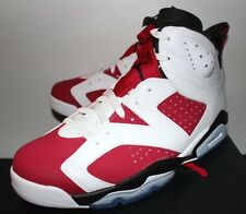 Air Jordan Retro 6 VI Carmine White Red Sneakers Men's 8 9 9.5 10 11 12 13 New