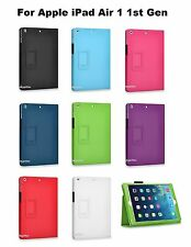 "PU Pouch Folio Case Cover Stand 9.7 "" Apple iPad Air 1 1st / 2 2nd Gen"