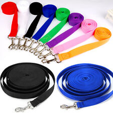 Nylon Pet Dog Training Lead Walking Leash Durable for Dogs 6 Sizes 8 Colors