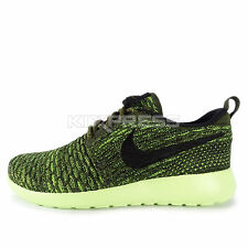 Nike WMNS Roshe One Flyknit [704927-301] NSW Casual Rough Green/Black-Volt