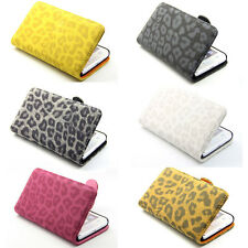 Deluxe Leopard Wallet Leather Flip Case Cover Stand For Samsung Galaxy S2 i9100