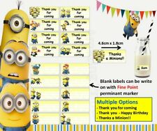 Thank you sticker Minions Birthday Party loot bag favor Supply despicable me kid
