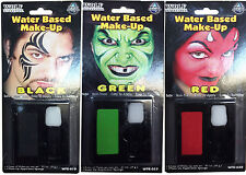 Halloween Water Based Make Up Mini Pallette And Brush Applicator Non Toxic
