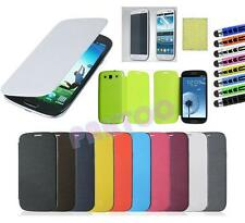 Luxury PU Flip Leather Case Cover For Samsung Galaxy S3 S III i9300 -11 colors
