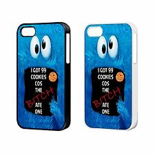 COOKIE MONSTER 99 COOKIES PHONE CASE FOR iPHONE 4 4s 5 5S 5C 6 6 Plus FP