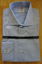 NWT Brooks Brothers Egyptian Cotton Blue Spread Collar Slim Fit Shirts MSRP $185