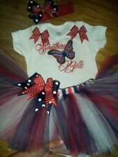 Southern Belle tutu outfit, butterfly, red white and blue