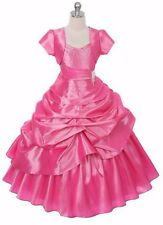 New Flower Girl Pink Princess Dress Pageant Birthday Wedding Graduation Formal