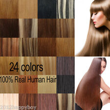 """7PCS 15"""" 18"""" 20"""" 22"""" Clip In Women Remy 100% Real Human Hair Extension 70-80G"""