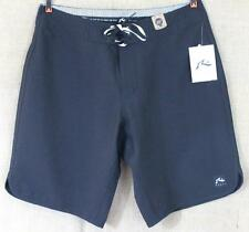 Rusty Manifestation Boardshorts Mens Solid Black Board Shorts Surf Swim New NWT