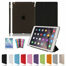 PU Leather Stand Smart Cover Hard Back Case Protect Fit iPad mini Air 2 3 4 5 6