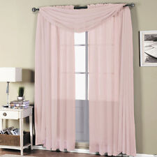 Abri Mauve Rod Pocket Crushed Sheer Curtain Panel - All Sizes