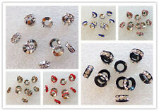 Big Hole Rhinestone Crystal Spacer Beads For European Charms Bracelet DHY101601