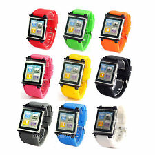 Newest Silicone Watch Band Wrist Strap Case Cover For Apple iPod Nano 6 6th Gen