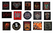 SLAYER / SEPULTURA - OFFICIAL SEW ON PATCH -  various patches logo metal