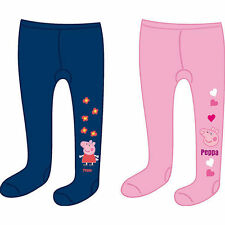 Offical Peppa Pig Girls Tights Blue & Pink S6 2-3 Years