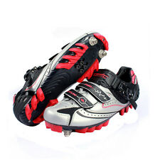 New Santic PRO Men's Mountain SPD Lock Cycling Bicycle Bike Shoes 39-44 Silver