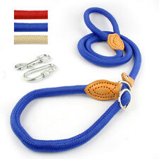 Durable Pet Dog Puppy Strap Nylon Rope Slip Training P Leash Walking Lead Collar