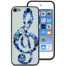 Treble Clef Music Note Back Case for Apple iPod Touch 5 5th 6 6th Gen Cover
