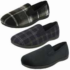 Mens Clarks King Twin Fabric Classic Twin-Gusset Slippers G Fitting