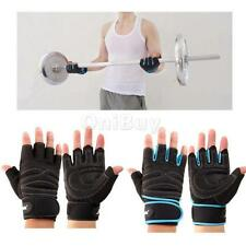 Pair Wrist Wrap Strap Gloves GYM Dumbbell Weight Lifting Health Fitness Workout