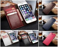 Quality Real Leather Wallet Card Holder Flip Case Cover for iPhone