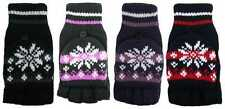 LADIES ROCKJOCK FINGERLESS COMBO MITTEN GLOVES WITH 4 FASHION DESIGN