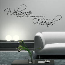 WELCOME FRIENDS WHO ENTER Wall Art Sticker Lounge Quote Decal Mural WSD601