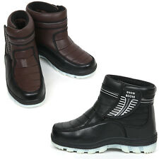 New Black Brown Mens Winter Comfort Ankle Boots Snow Warm Shoes